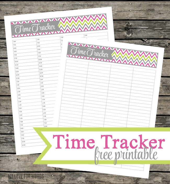 Be the master of your minutes with this free time tracker printable.