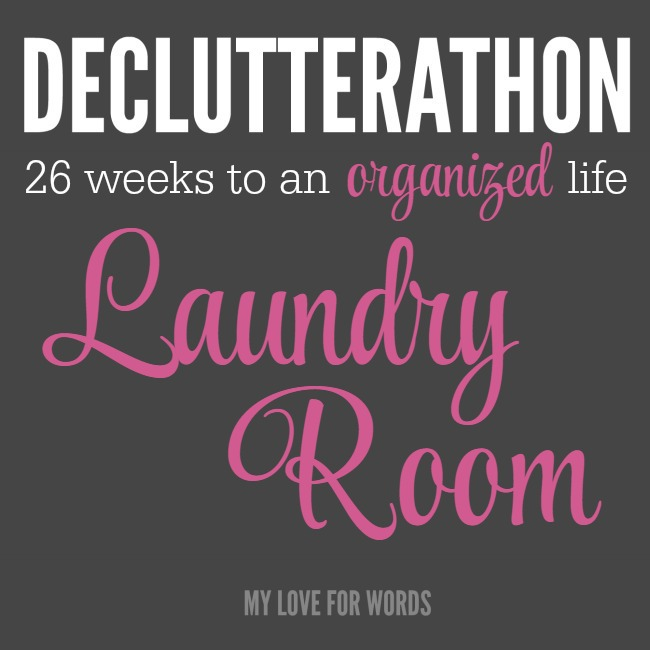 Declutterathon laundry room