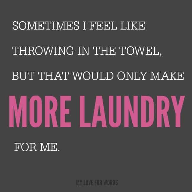 Declutterathon more laundry