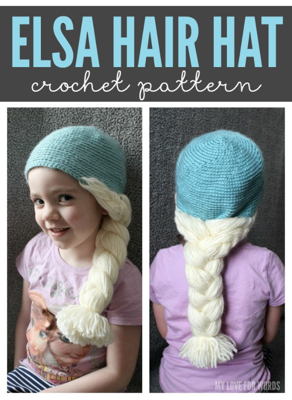 DIY Disney Frozen Elsa hair hat crochet pattern