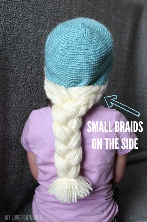 DIY Disney Frozen Elsa hair hat crochet pattern