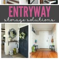 So many great ideas for entryway storage! These entryways will show that you can create a great space, no matter how much or little you have.