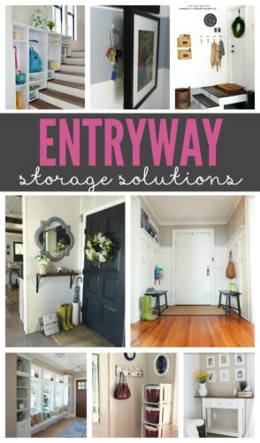 So many great entryway storage ideas!! These entryways will show that you can create a beautiful and welcoming space, no matter how much (or little) room you have.