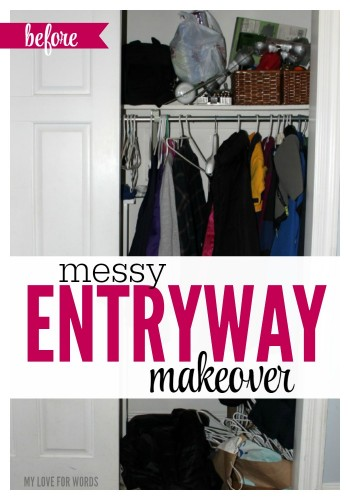 Messy Entryway Makeover Main image Before
