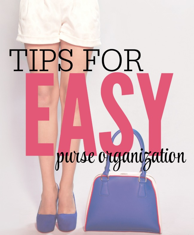 Tips for easy purse organization