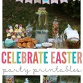Throwing the perfect Easter party has never been easier! Love these bright and colorful party printables. Perfect Easter party decor.