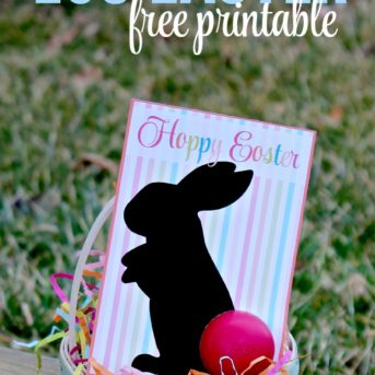 Love this easy to make DIY Easter gift and free printable! Such a cute way to give someone an EOS lip balm for Easter.