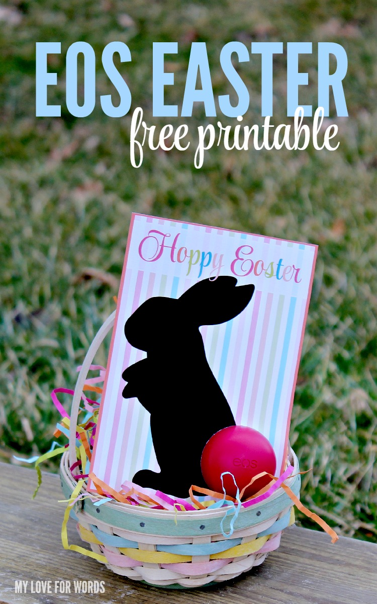 Eos easter gift free printable love this easy to make diy easter gift and free printable such a cute way negle Gallery