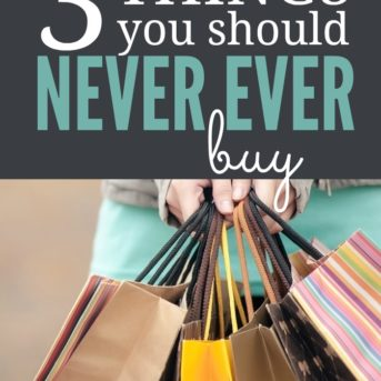 If you're struggling with clutter, these are three things you should NEVER EVER buy.