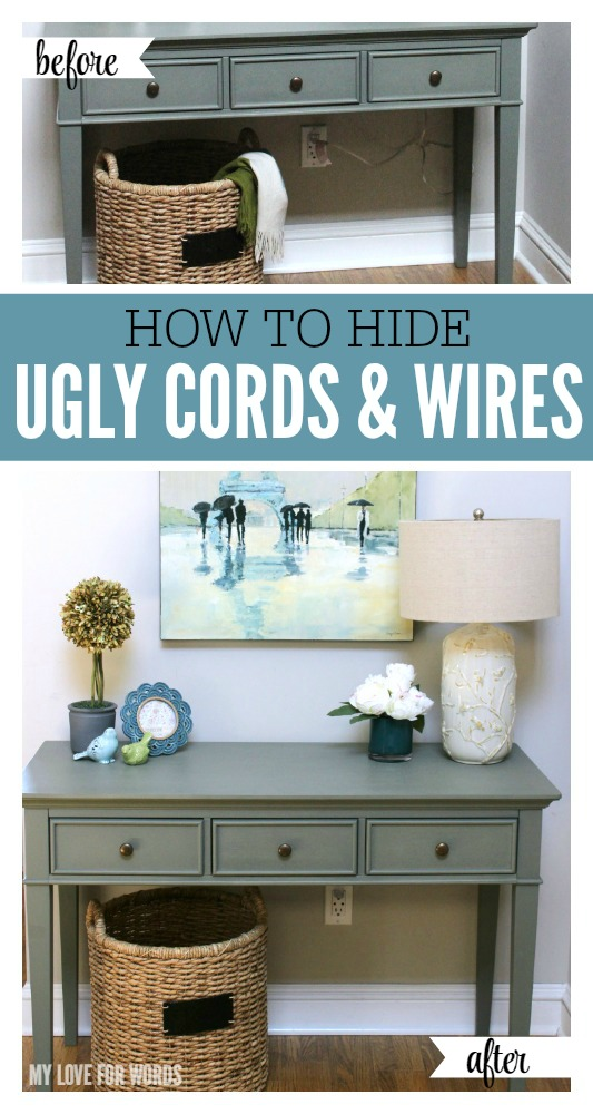 How to Hide Ugly Cords and Wires