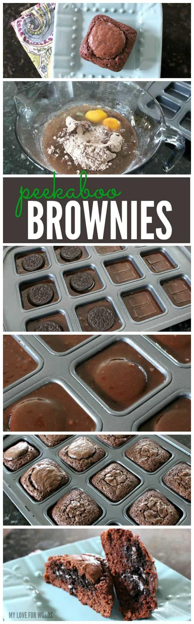 Peekaboo Brownies long collage 2