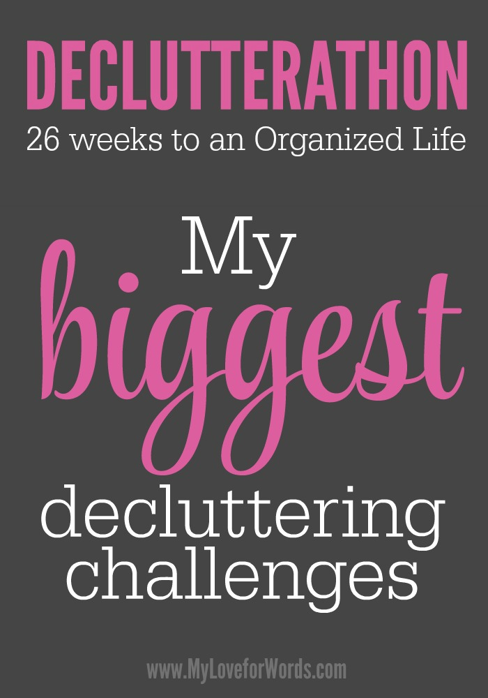Decluttering isn't something that comes easily for me at all. These are the biggest challenges that keep me from making the progress I want to.