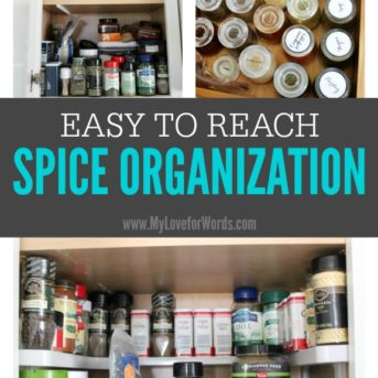 If your spices have gotten out of control, these easy to reach spice organization ideas will make you and your kitchen very happy.