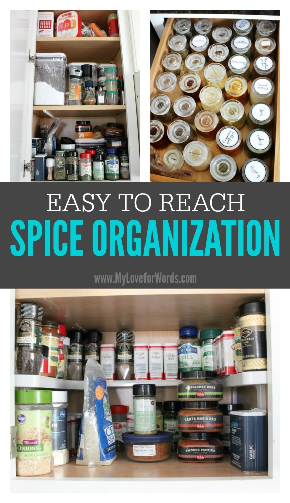 Easy to reach spice organization