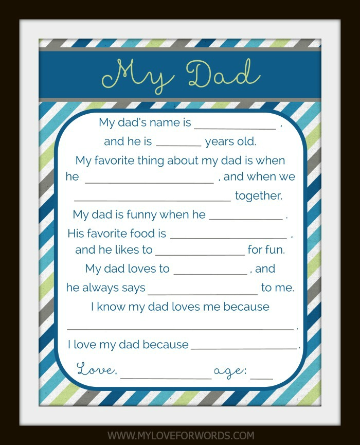 picture about All About My Dad Free Printable named Absolutely free printable for Father