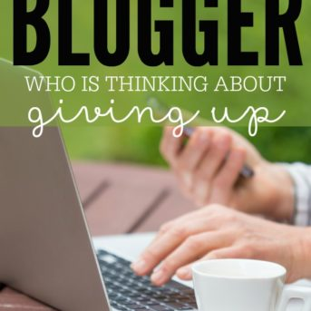 Are you a discouraged blogger? Here are four easy things you can do to go from feeling discouraged and overwhelmed to inspired.