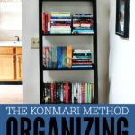 Easy tutorial and great tips for decluttering and organizing books with the Konmari Method from The Life-Changing Magic of Tidying Up.