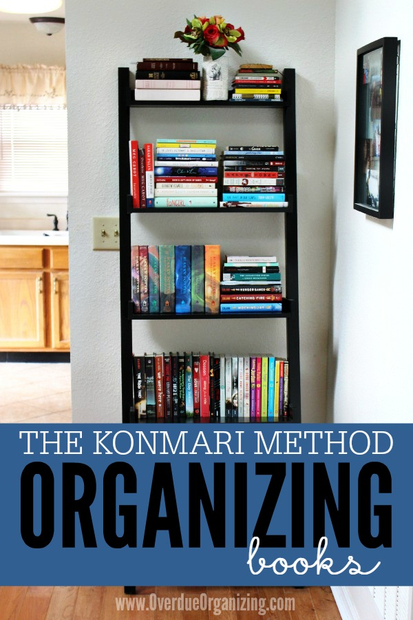 Easy Tutorial And Great Tips For Decluttering Organizing Books With The Konmari Method From