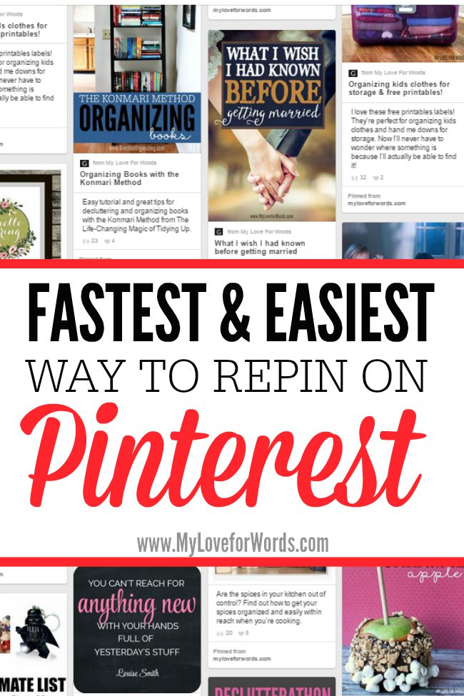 Fastest and Easiest way to repin on pinterest