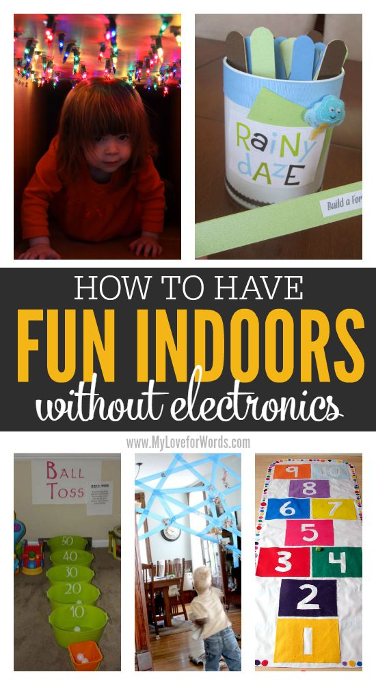 How to have fun indoors without electronics