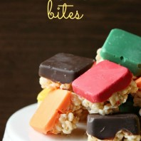 Love this fun, colorful, and delicious twist on the standard rice krispie treat.