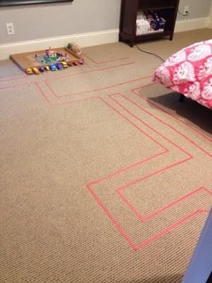 track on the floor