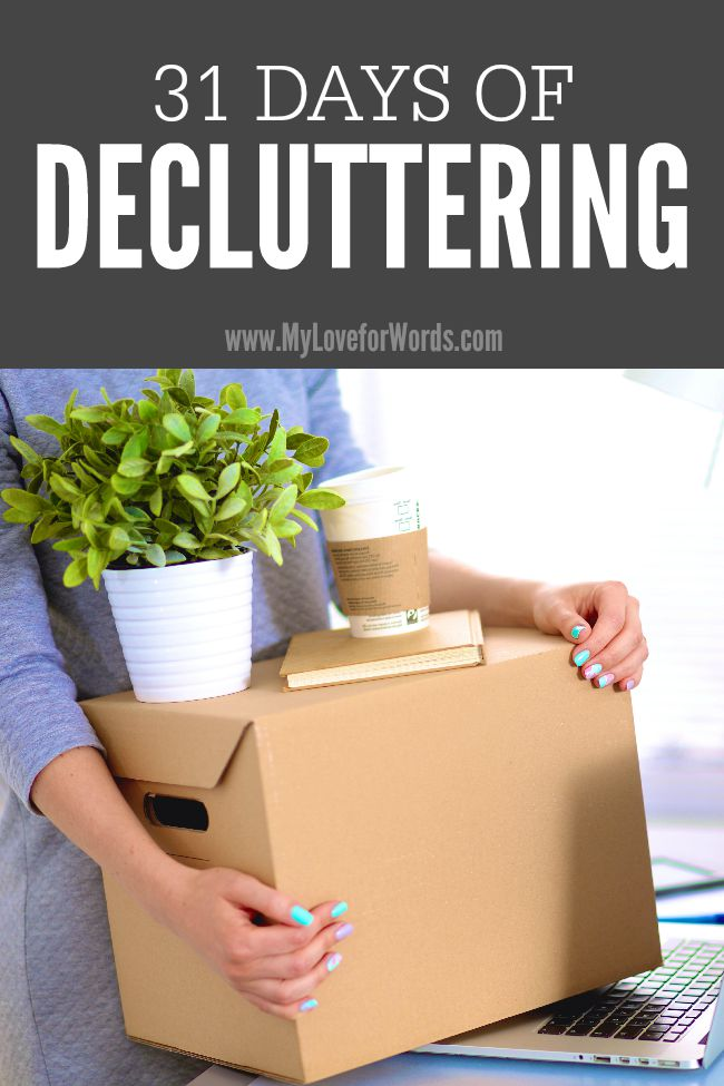 Are you surrounded by clutter but struggle finding the motivation to deal with it all? Don't know where to start? Join the 31 Days of Decluttering Challenge and start making progress today. You don't have to do it alone. We're in this together!