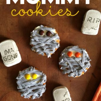 These Pumpkin Cheesecake Mummy Cookies are the cutest, spookiest Halloween treats, and the recipe couldn't be easier. They're perfect for a Halloween party!