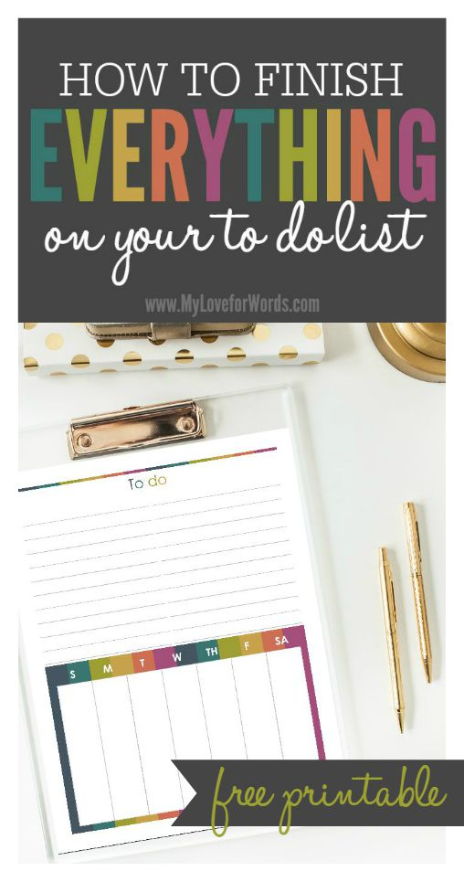 TOL How to finish everything on your to do list