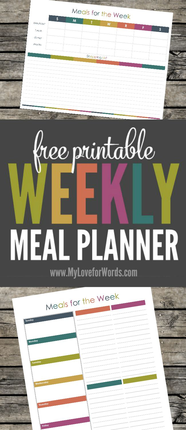 TOL weekly meal planner collage