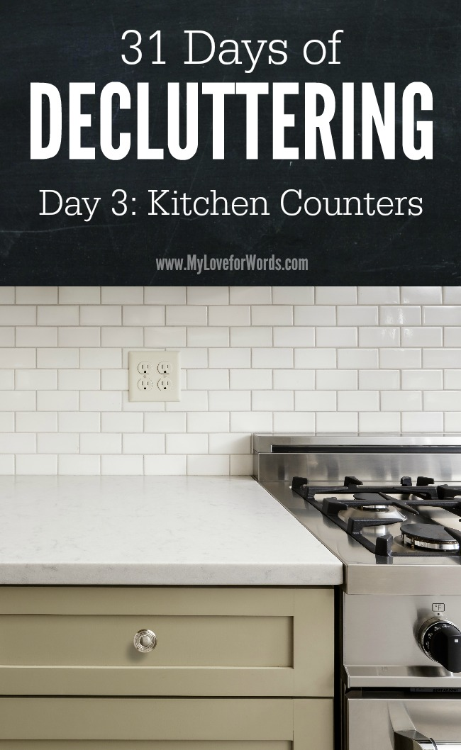 31 Days of Decluttering Day 3