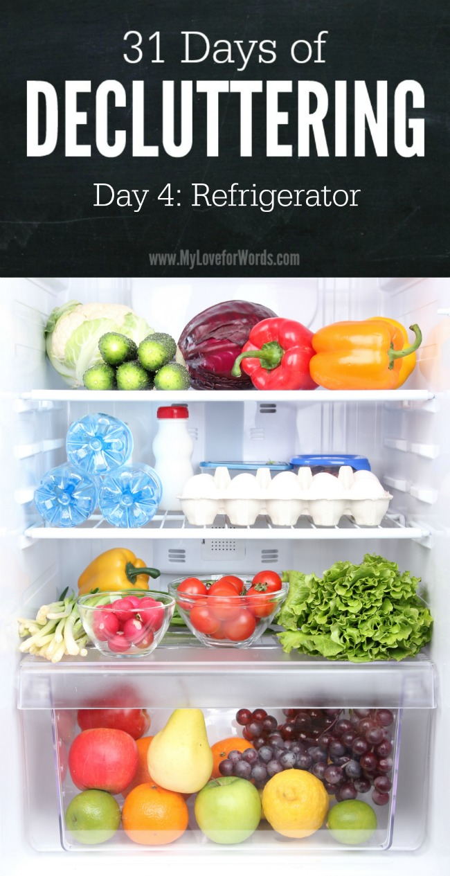 Don't let your fridge be the place good food goes to die. Take charge of kitchen clutter with the 31 Days of Decluttering challenge!