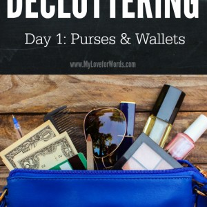 31 Days of Decluttering: Day 1