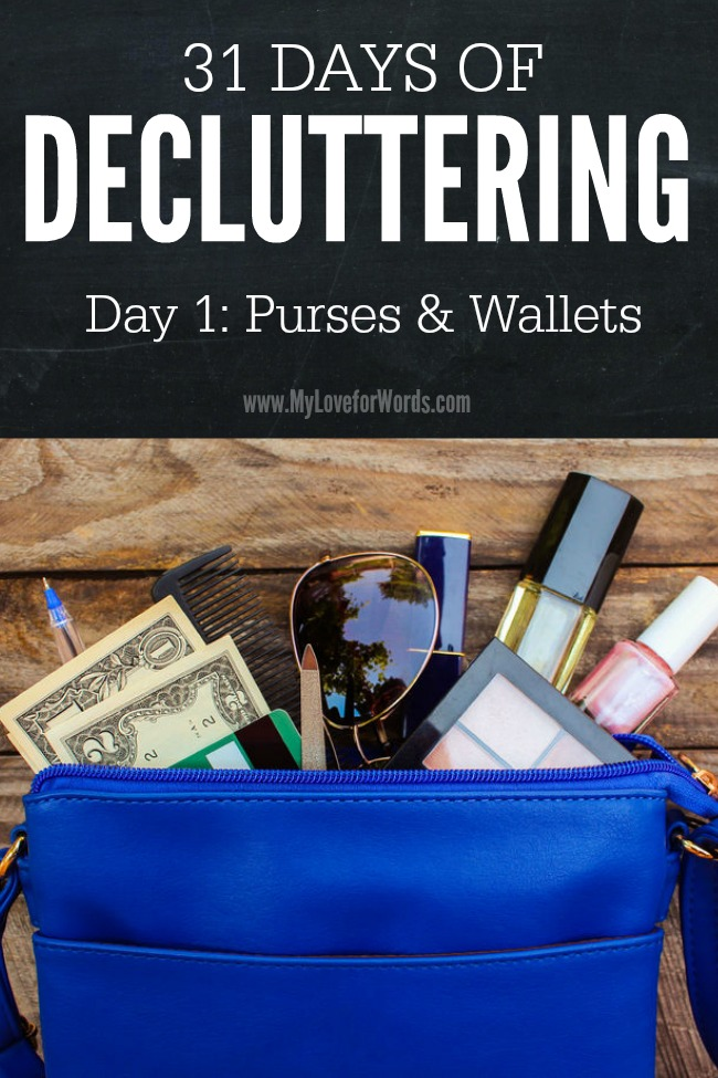31 Days of Decluttering purses 2