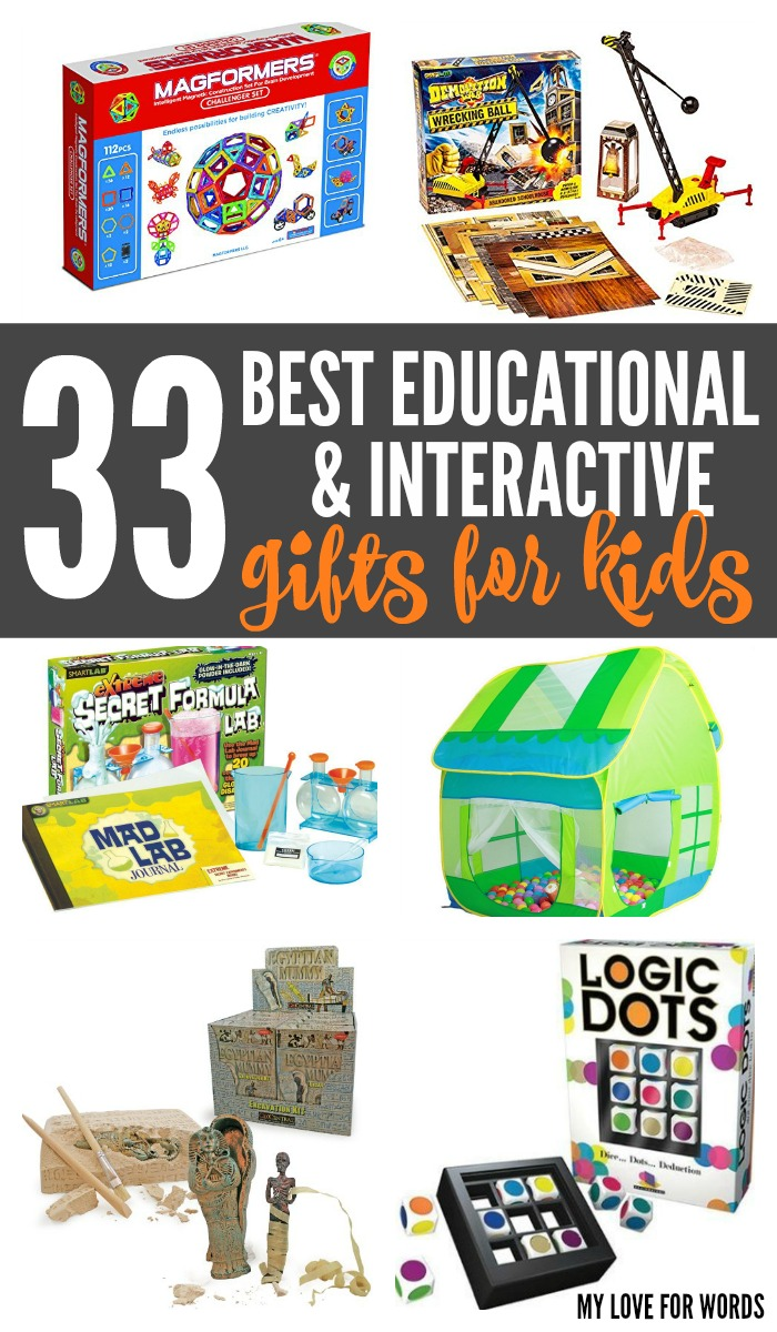 33 best educational and interactive gifts for kids