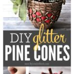 Want easy DIY Christmas decorations that are rustic and refined? Check out these glitter pine cones. Just a little glue and a little glitter, and you've got a pretty, sparkly addition to your tree or holiday decor.