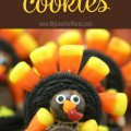 Adorable Oreo Turkey Cookies! Such a fun and cute addition to the Thanksgiving table, holiday party, or any situation with a turkey!