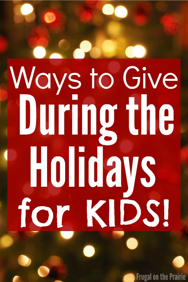 ways to give during the holidays 2