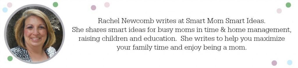 Rachel Newcomb bio in gray