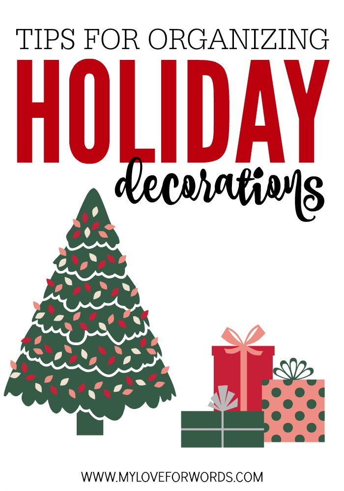 Tips for organizing holiday decorations