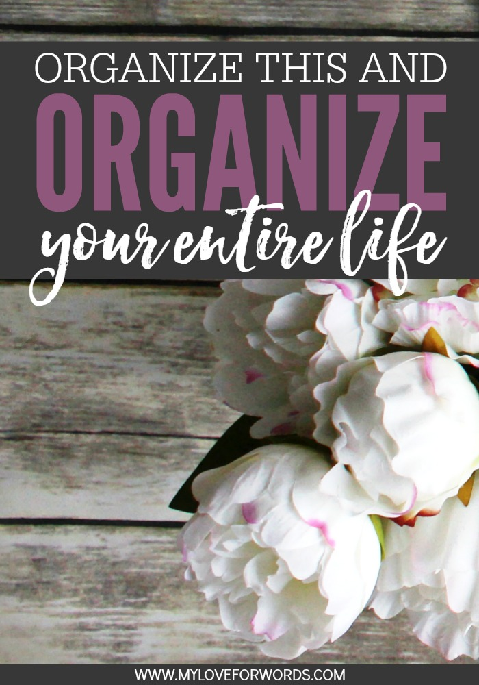 Organize this and organize your entire life