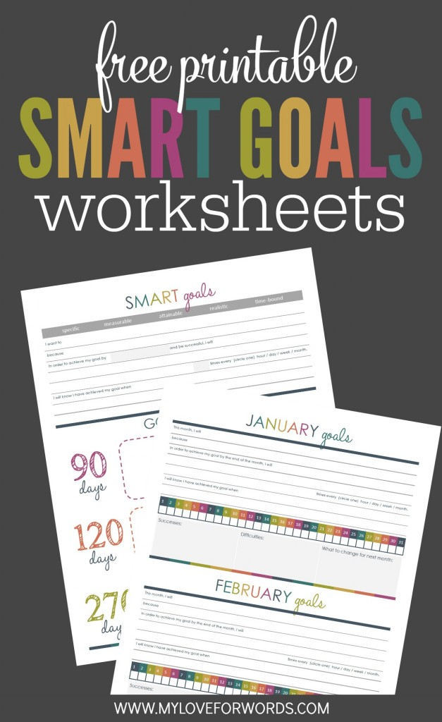 Creating Smart Goals with Free Printables My Love For Words – Smart Goals Worksheet