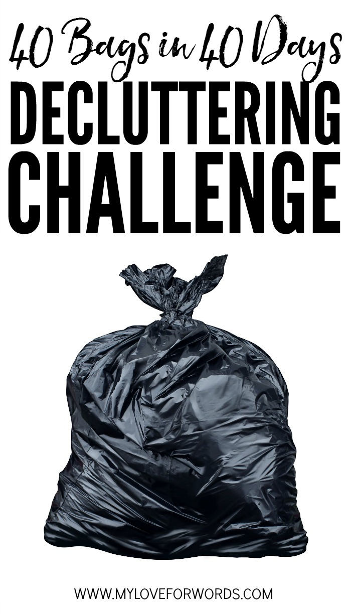 Are you sick of clutter and ready for a fresh start? Join the 40 Bags in 40 Days decluttering challenge! We'll declutter and organize our homes together. Over the ne…