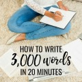 How to write 3000 words in only 20 minutes square