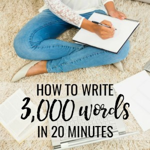 how to write a 3000 word report
