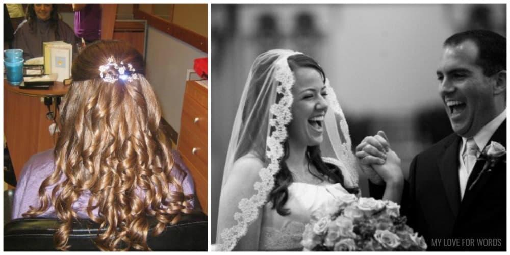 hair wedding collage