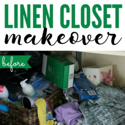 Messy Linen Closet Makeover: 40 Bags in 40 Days update