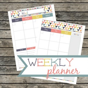 Weekly planner triangle