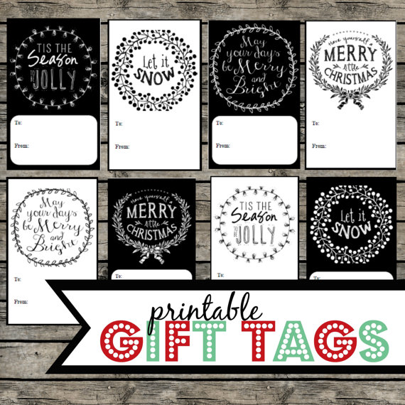 fancy christmas gift tags merry christmas and happy new year 2018