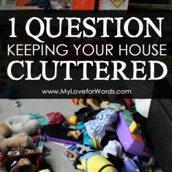 1 Question Keeping your Home Cluttered